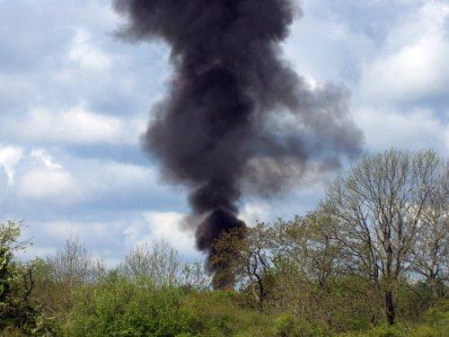 Black Smoke and Fire Rises